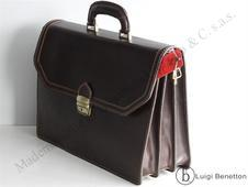 BRIEFCASE LEATHER FABIO MASSARI
