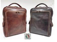 "BACKPACK UNISEX GENUINE LEATHER ""Luigi Benetton"""