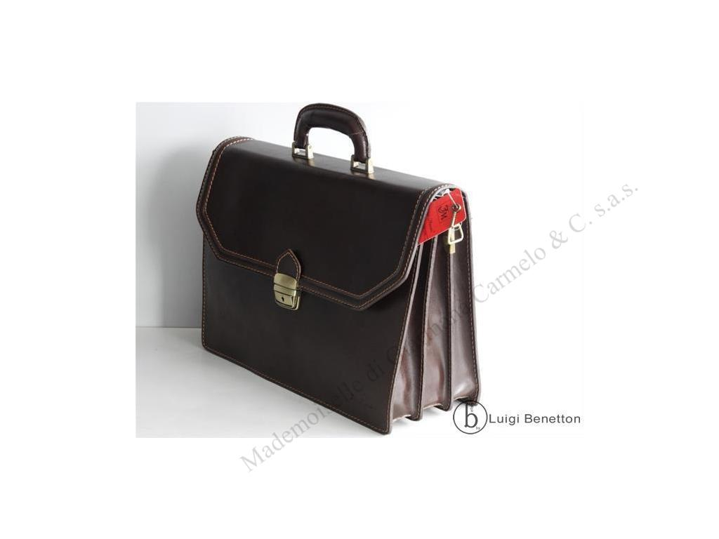 BRIEFCASE LEATHER FABIO MASSARI - Fabio Massari